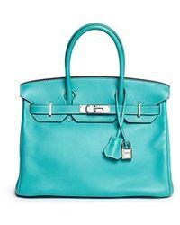 Hermès Hermès 35cm Lagon Togo Leather Birkin - Blue
