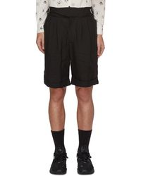 The Viridi-anne - Buckle Detail Linen Shorts - Lyst
