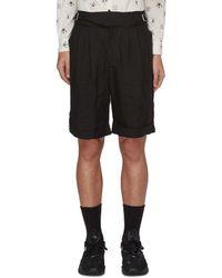The Viridi-anne - Buckle Detail Linen Shorts - Lyst