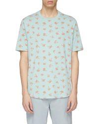 PS by Paul Smith - Palm Tree Print Organic Cotton T-shirt - Lyst