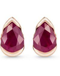 Fernando Jorge - 'bloom' Diamond Ruby 18k Rose Gold Small Stud Earrings - Lyst