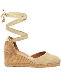 28ad2f86424 'carina 60' Wraparound Ankle Tie Canvas Wedge Espadrilles - Natural