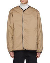 Nanamica Reversible Down Cardigan Jacket Men Clothing Jackets Reversible Down Cardigan Jacket - Natural