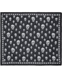 Alexander McQueen   Classic Skull Silk Scarf   Lyst