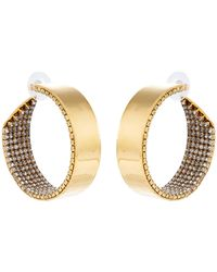 Erickson Beamon Crystal & Gold-plated Hoop Earrings - Metallic