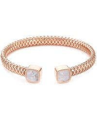 Roberto Coin - 'primavera' Mother Of Pearl 18k Rose Gold Cuff - Lyst