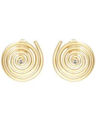 Elizabeth and James - 'della' Topaz Spiral Stud Earrings - Lyst