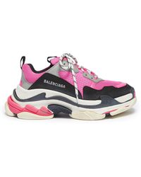 Balenciaga - Triple S Low Top Leather Sneakers - Lyst