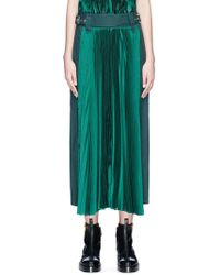 Sacai | Belted Panel Outseam Plissé Pleated Skirt | Lyst