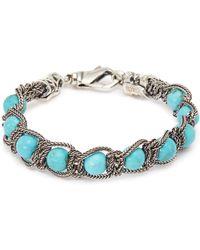 Emanuele Bicocchi Bead Chain Silver Bracelet - Metallic