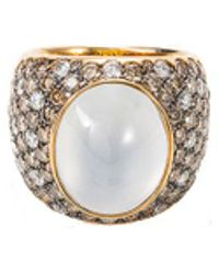 Roberto Coin - Diamond Jade 18k Rose Gold Ring - Lyst