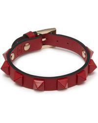 Valentino - 'rockstud' Leather Bracelet - Lyst