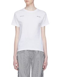 Collina Strada - 'call Mom' Slogan Embroidered T-shirt - Lyst