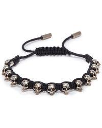 Alexander McQueen - Skull Charm Braided Bracelet - Lyst