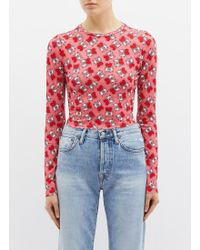 Alice + Olivia - X Keith Haring Foundation  delaina  Graphic Print Cropped  Long Sleeve a5e159950