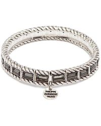 Philippe Audibert - 'cesario' Swarovski Crystal Braid Effect Elastic Bracelet - Lyst