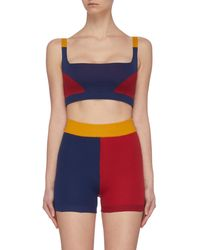 Nagnata Colourblock Knit Performance Bralet - Blue