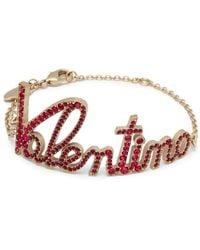 Valentino - Pavé Logo Bracelet - Lyst