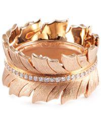Stephen Webster 'magnipheasant' Diamond 18k Rose Gold Ring - Metallic