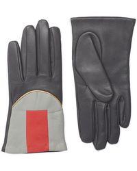 Aristide - Colourblock Leather Gloves - Lyst