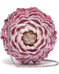 Judith Leiber 'peony' Crystal Pavé Rose Clutch - Multicolor