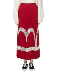 Elizabeth and James Women's Regina Pleated Maxi Skirt - Ruby - Size 2 - Red