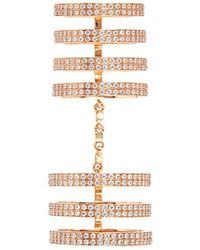Repossi - 'berbère' Diamond 18k Rose Gold Seven Row Linked Ring - Lyst