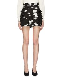 C/meo Collective 'thousand Times' Dot Print Tiered Shorts - Black