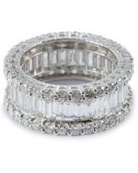 LC COLLECTION Diamond 18k White Gold Ring - Metallic