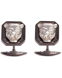 Stephen Webster - 'beasts Of London Leopard' Rhodium Silver Cufflinks - Lyst