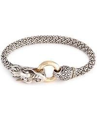 John Hardy - 18k Yellow Gold Silver Scaly Dragon Bracelet - Lyst