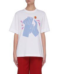 Chloé Hand Graphic Print Cotton T-shirt - Multicolour