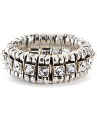 Philippe Audibert New Broome' Swarovski Crystal Elastic Ring - Metallic
