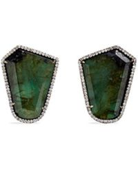 Monique Péan - 'atelier' Emerald Diamond 18k Recycled White Gold Earrings - Lyst
