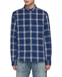 Denham Byron' Check Shirt - Blue