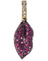 Khai Khai - 'gummy Lips' Diamond Ruby Clip-on Charm - Lyst