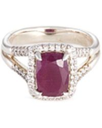 John Hardy - 'magic Cut' Diamond Ruby Silver Ring - Lyst