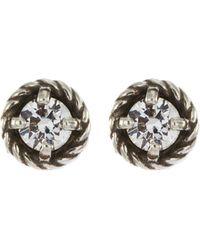 Philippe Audibert 'susie' Bezel Set Swarovski Crystal Stud Earrings - Metallic