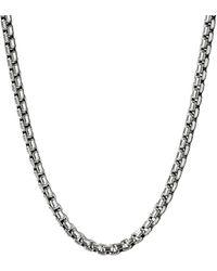 David Yurman Silver Box Chain Necklace - Metallic
