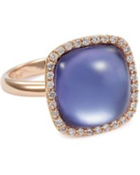 Roberto Coin - 'cocktail' Diamond Lapis 18k Rose Gold Ring - Lyst