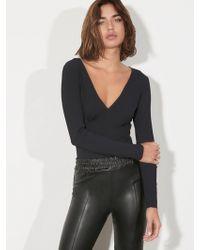 Lanston - Wrap Bodysuit - Lyst