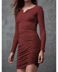 Lanston - Ruched Henley Dress - Lyst