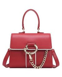 Lapalette Cannes Rosee Micro Mini Satchel Bag - Red
