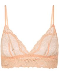 La Perla | Peach Stretch Leavers Lace Triangle Bra | Lyst