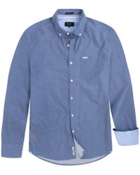 Pepe Jeans - Fawdry 100% Cotton Long-sleeved Straight Shirt - Lyst