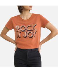 Leon & Harper Tee shirt col rond manches courtes TORO - Orange