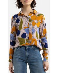 Harris Wilson Camisa con estampado floral, manga larga LINAELLE - Azul