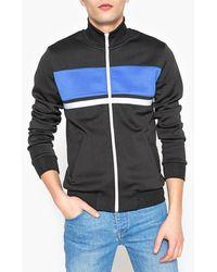 La Redoute - Zip-up High Neck Sweatshirt With Block Stripe - Lyst