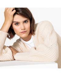 La Redoute - Wool Mid-length Open Cardigan - Lyst