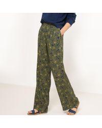 La Redoute - Tropical Print Wide Leg Trousers - Lyst